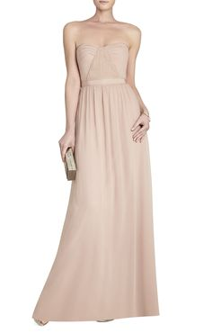 Amber Cascade Strapless Dress | BCBG
