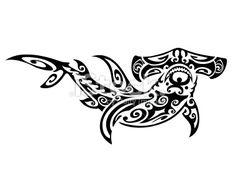 Tribal Hammerhead Shark Royalty Free Stock Vector Art Illustration