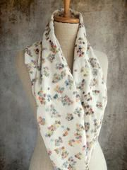 About 20 x 52 inches, covered in little sprigs of embroidered flowers. all linen, base color very, very light grey. Embroidered Flowers, Hand Crochet, Parisian, Knitwear, Base, Color, Grey, Design, France