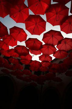 the march of red umbrellas by Bruno Panieri, via 500px