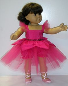 American Girl Ballerina outfit for dolls by NanaJerrisCreations, $25.00