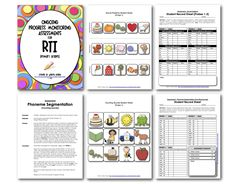"""Sample pages from """"Ongoing Progress Monitoring Assessments""""  $7.00  {Click on the link for the product.}  http://www.teacherspayteachers.com/Product/Ongoing-Progress-Monitoring-Assessments-for-RTI-K-2"""