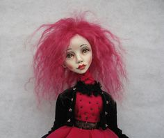 Suzanne Art doll OOAK doll Paper clay doll Handmade by JuraD Sold