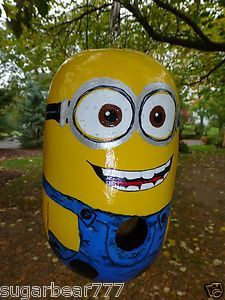 Despicable Me - a Minion! Birdhouse Gourd available on Ebay and ETSY  from Designs by Sugarbear Unique !