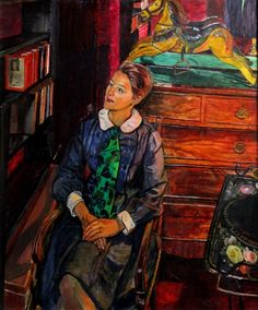 Carel Weight RA, CBE - Seated Lady is available for sale at Castlegate House Gallery. Art And Illustration, Illustrations, Tate Gallery, Royal College Of Art, Best Portraits, Paintings For Sale, Figurative Art, Traditional Art, Female Art