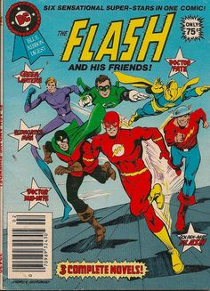 Cover for DC Special Series (DC, 1977 series) - The Flash and His Friends! Dc Comic Books, Vintage Comic Books, Vintage Comics, Comic Book Covers, Comic Book Characters, Comic Book Heroes, Comic Character, Dc Comics Superheroes, Dc Comics Art