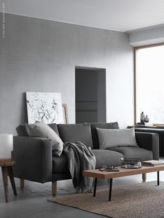 lovely grey tones in the living room, but what I like the most is the white mdf with the ink next DIY - IKEA Sverige