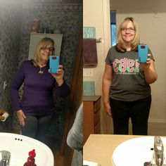 Fabulous Tuesdays with great Results!  Just look at Janine B.  Two months on valentus. I've had this purple addidas shirt for two years but it never fit me right. Only 9 pounds lost. But it feels like more. Before on right. After on left  start your journey with Valentus:  www.kjensifyme.myvalentus.com Take the free tour here:  www.kjensifyme.valentustour.com