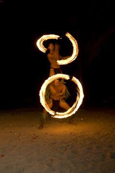 Tahitian Firedancers at Heiva I Tahiti, French Polynesia
