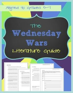 The Wednesday Wars Literature Guide from See Mary Teach 46 pages of questions and activities to get kids thinking about the book!