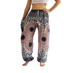 Pink Mandala Harem Pants for Men Womens Boho Hippie Baggy Yoga Trousers Cool Hippie Pants, Boho Pants, Boho Hippie, Yoga Trousers, Harem Pants, Boutique Clothing, Clothing Boutiques, Elephant Pants, Flowy Pants