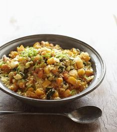 moroccan couscous with saffron #recipe