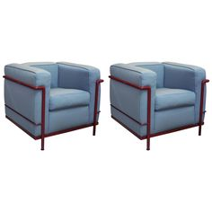 Pair of Le Corbusier Villa Church Chairs by Cassina | See more antique and modern Club Chairs at https://www.1stdibs.com/furniture/seating/club-chairs