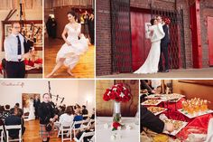 Caitlin & Brian - red, white, gold winter wedding