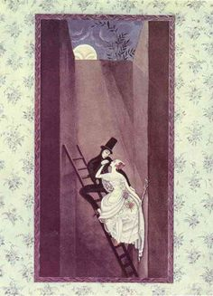 Kay Nielsen - The Shadow: At the top there's a hole leads out into the wide world