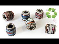 DIY: Cuentas de papel (estilo Pandora) - YouTube