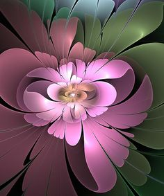 Fractal Art - Beauty Queen of Flowers