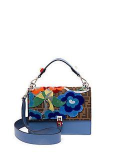 Fendi Kan I Tapestry Logo Shoulder Bag 6f5c252812dba