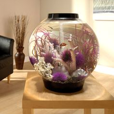 biOrb Black Mega Aquarium Kit with Light. Form and function come together in this easy-to-set-up, stylish aquarium kit. Biorb Aquarium, Aquarium Shop, Aquarium Kit, Saltwater Aquarium, Freshwater Aquarium, Aquarium Ideas, Aquarium Decorations, Biorb Fish Tank, Cool Fish Tanks