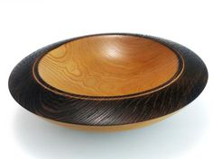 Wych Elm with textured and pyrographed rim 10 x 2 B872