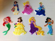 Disney Princess hama perler beads by Sasha Nielsen