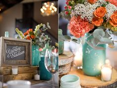 Great color scheme - table names were names of places where the couple had all their first dates