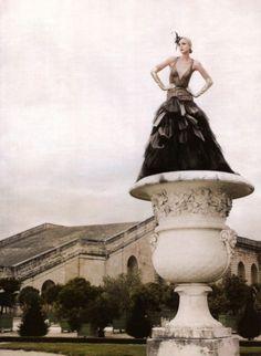 Jessica Stam by Karl Lagerfeld for Harper's Bazaar Romania November 2007