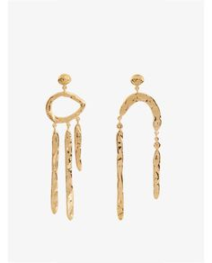 Aurelie Bidermann Melina Abstract gold-plated earrings $343