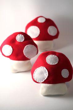 Red Mushroom Heating Pad single heating pad by jasminedoodles, $12.00