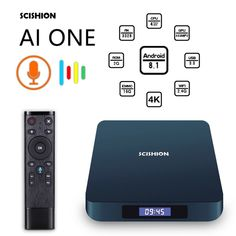 SCISHION AI ONE Android TV Box with Voice Remote Control Sales Online eu - Tomtop Smartwatch, Apple Technology, Apple Tv, The Voice, Remote, Android, Phone, Self, Smart Watch