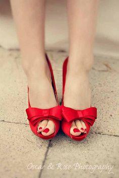 Red wedding shoe ideas