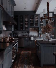 Dream Home Design, My Dream Home, Home Interior Design, House Design, Decoration Inspiration, Aesthetic Rooms, Dream House Exterior, Black Kitchens, House Goals