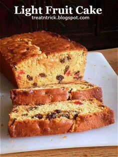 Buttery, soft and light fruit cake made with delicious dried fruits Easy Cake Recipes, Baking Recipes, Dessert Recipes, Dessert Salads, Bread Recipes, Light Fruit Cake Recipe, Trini Fruit Cake Recipe, Guyana Fruit Cake Recipe, Christmas Fruit Cake Recipe