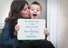 Cute way to announce that there's another baby on the way! Great photography idea!