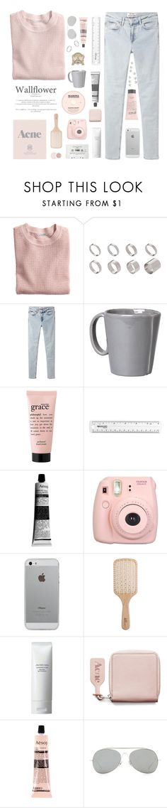 """heartbeats get in the way"" by perfectly-innxcent ❤ liked on Polyvore featuring H&M, ASOS, Acne Studios, Vietri, philosophy, Dolce Vita, CASSETTE, Prada, Aesop and Luvvitt"