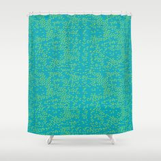 Green Ocean shower curtain by Patricia Sodré