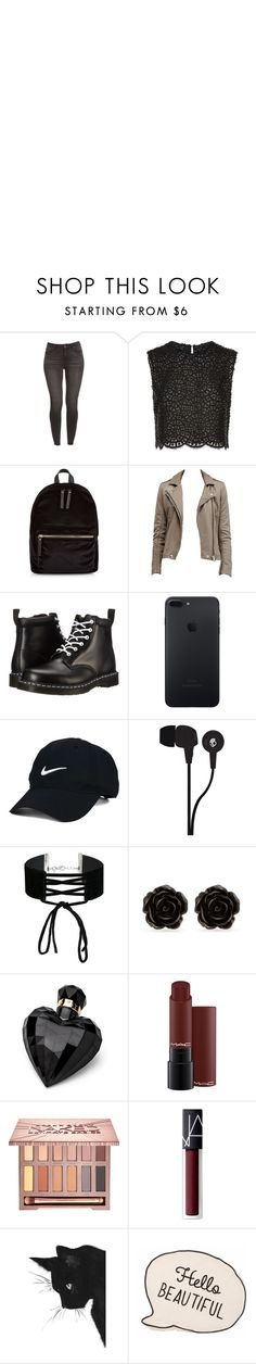 """""""Dont make me mad. it's better for you 👊👊"""" by anilamgk ❤ liked on Polyvore featuring Costarellos, New Look, Dr. Martens, Nike Golf, Skullcandy, Miss Selfridge, Erica Lyons, Lipsy, Urban Decay and NARS Cosmetics"""