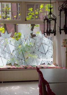 great idea for windows that are close to the sidewalk. creates privacy but still lets light in!