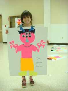 Day 1 at Camp. Ages 6-8. Their Finished Monster.
