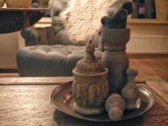 Uiteindes van gordijnroedes omtoveren tot mooie ornamenten