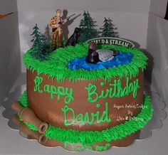 """- 2 layer, 8"""" chocolate cake, chocolate filling, iced in home made chocolate buttercream. Plastic toppers. TFL!"""