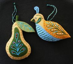 mmmcrafts: a partridge and a pear