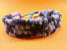 Polsera de trapillo amb corda ajustable de colors(img2) (Ref : TR-POL-001) Preu : 12 €