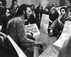 Sit-in on the Campus of San Francisco State University in May, 1968  - One of their demands, among others, was the removal of the Air Force ROTC from campus.