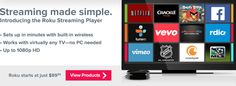 Roku provides the simplest way to stream entertainment to your TV. Tv Episodes, Great Films, Smart Tv, Music Games, Make It Simple, Netflix, Tv Shows, Gadgets, Rooms