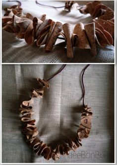 cork necklace...