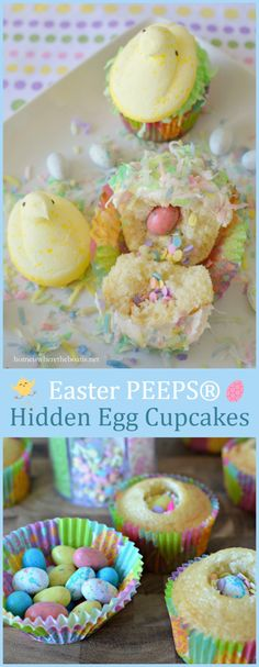 It's not Easter without my Peeps :) I have a last-minute Easter treat for small and big kids alike, PEEPS® Hidden Egg Cupcakes! I found heaps of PEEPS® for Easter at Target. This fun idea for… Easter Peeps, Easter Treats, Easter Food, Easter Stuff, Hoppy Easter, Easter Recipes, Holiday Recipes, Holiday Foods, Holiday Treats