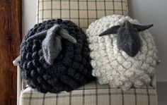 """hatandsandalsguy: """" stitcherywitchery: """" Bobble Sheep Pillow in Gentle Giant – a free knitting pattern by Purl Soho. Easy Knitting Projects, Crochet Projects, Sewing Projects, Diy Projects, Crochet Sheep, Free Crochet, Purl Bee, Knitting Patterns Free, Free Knitting"""