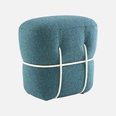 Pouf « Lace » en tissu et cordelettes, Benjamin Graindorge pour Cinna, à partir de 373€ Armatures filaires |MilK decoration