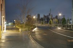 Hurricane Sandy flooding Brooklyn Bridge Park.You can see lower Manhattan is experiencing a blackout.     super storm sandy